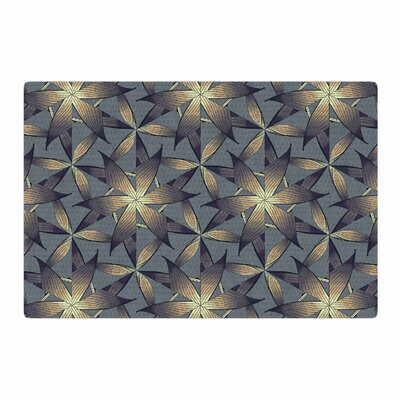 Angelo Cerantola Copper Flowers Illustration Gray/Tan Area Rug Rug Size: 2 x 3