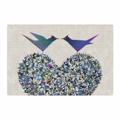 Angelo Cerantola Our Love Illustration Beige/Blue Area Rug Rug Size: 2 x 3