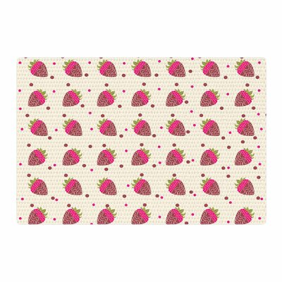 Afe Images Chocolate Strawberries Pattern Red/Pink Digital Area Rug Rug Size: 4 x 6