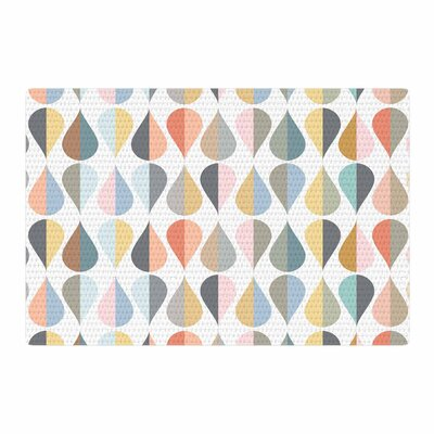 Afe Images Drops Illustration Teal/Orange Area Rug Rug Size: 2 x 3