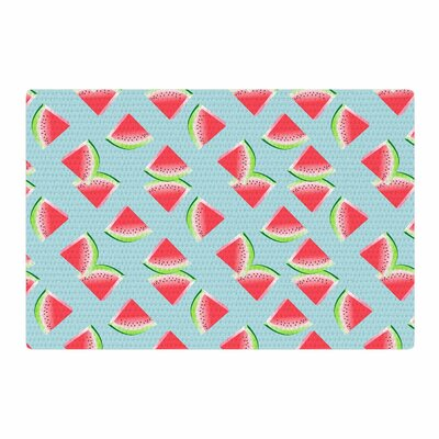 Afe Images Watermelon Slices Pattern Illustration Red/Blue Area Rug Rug Size: 2 x 3