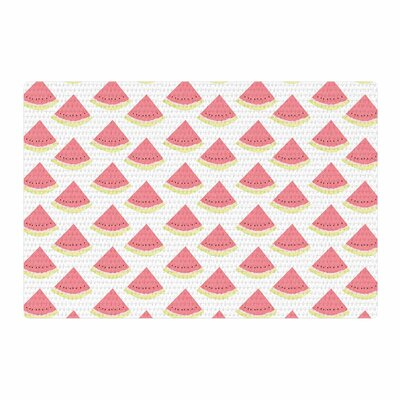 Afe Images Watermelon Pattern 2 Illustration Red/White Area Rug Rug Size: 2 x 3