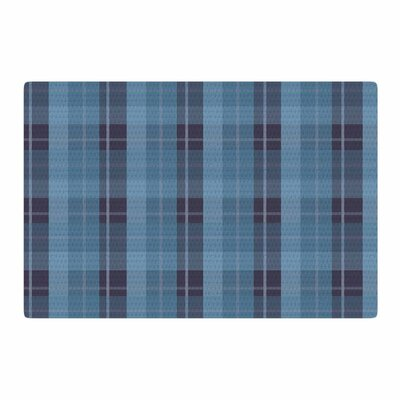 Afe Images Plaid Pattern II Blue Area Rug Rug Size: 4 x 6