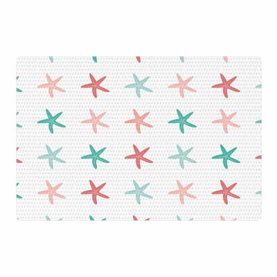 Afe Images Starfish Pattern II Illustration Teal/Pink Area Rug Rug Size: 2 x 3