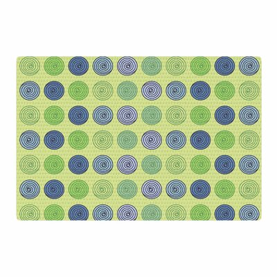 Afe Images Spheres Olive Illustration Green/Blue Area Rug Rug Size: 2 x 3