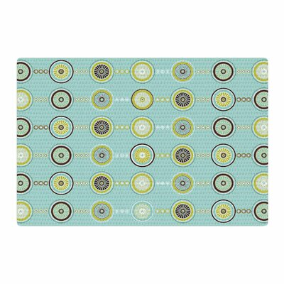 Afe Images Circle Pattern Illustration Teal/Blue Area Rug Rug Size: 2 x 3