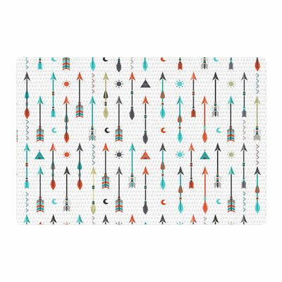 Afe Images Tribal Inspired Arrow Illustration Green/Orange Area Rug Rug Size: 4 x 6