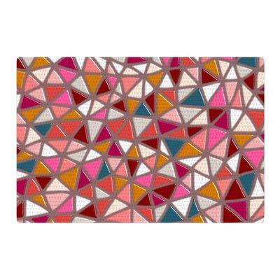 Pallerina Design Geo Mosaic Geometric Modern Tile/Purple Area Rug Rug Size: 2 x 3