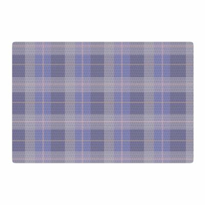 Afe Images Plaid Pattern Illustration Purple/Blue Area Rug Rug Size: 2 x 3