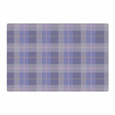 Afe Images Plaid Pattern Illustration Purple/Blue Area Rug Rug Size: 4 x 6