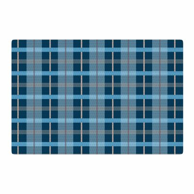 Afe Images Plaid Pattern Illustration Blue Area Rug Rug Size: 2 x 3