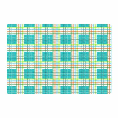 Afe Images Modern Plaid Pattern Illustration Teal/Green Area Rug Rug Size: 4 x 6