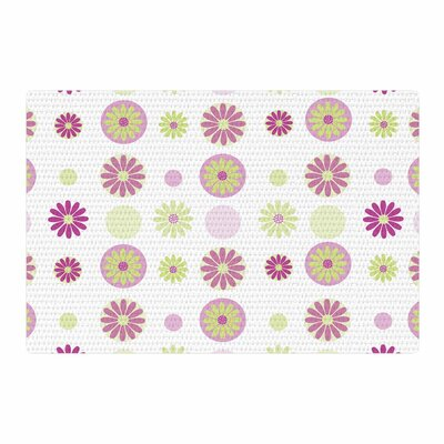 Afe Images Floral Pattern Digital Purple/Pink Area Rug Rug Size: 2 x 3