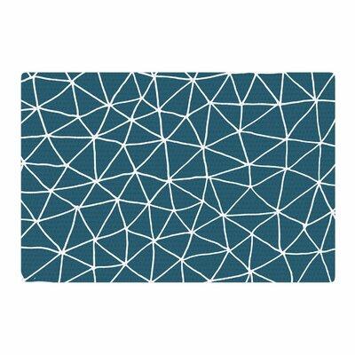 Pallerina Design Peacock Geometric Modern Teal/Blue Area Rug Rug Size: 2 x 3