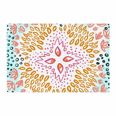 Pellerina Design Fresh Spring Flower Burst Watercolor Orange Area Rug Rug Size: 4 x 6