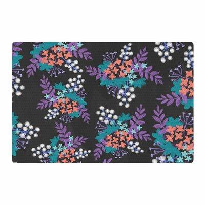 Pellerina Design Bohemian Greenery Watercolor Pink Area Rug Rug Size: 2 x 3