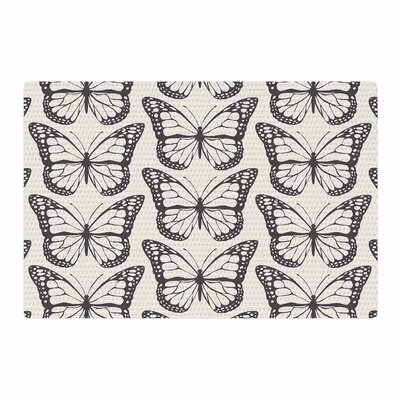 Amanda Lane Monarch Spirit Illustration Beige/Black Area Rug Rug Size: 4 x 6