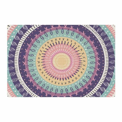Amanda Lane Bohemian Tribal Mandala Digital Illustration Pink/Purple Area Rug Rug Size: 4 x 6