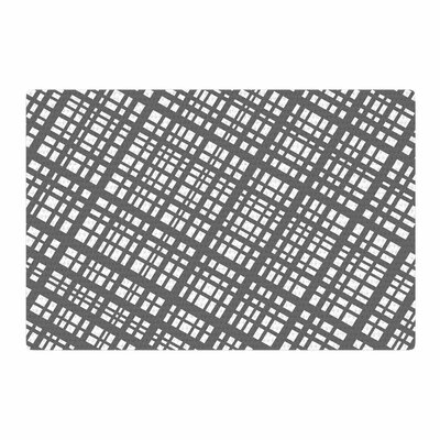 Bruce Stanfield The Bauhaus Grid Digital Gray/White Area Rug Rug Size: 2 x 3