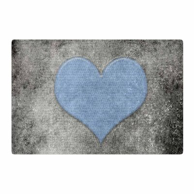 Bruce Stanfield Vintage Valentines Blue Digital Blue/Black Area Rug Rug Size: 2 x 3