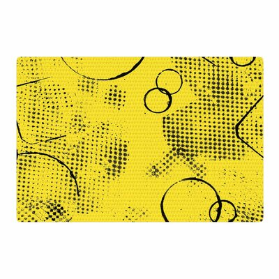 Bruce Stanfield Traces Texture in Yellow Painting Black/Yellow Area Rug Rug Size: 4 x 6