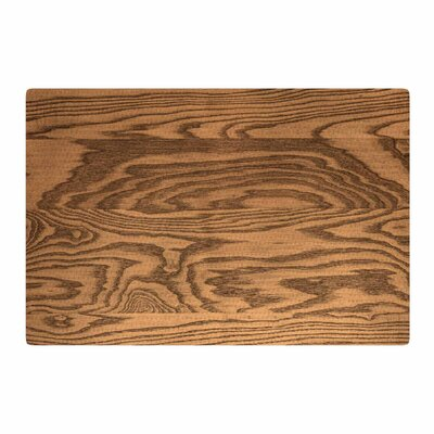 Bruce Stanfield Wood Grain 5 Photography Brown/Tan Area Rug Rug Size: 2 x 3