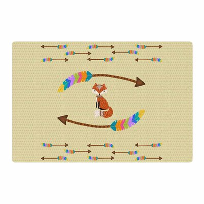 Cristina Bianco Design Fox Tribal Arrows Yellow/Orange Area Rug Rug Size: 2 x 3