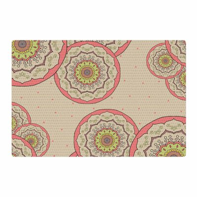 Cristina Bianco Design Pink Green Mandala Design Illustration Pink/Green Area Rug Rug Size: 2 x 3