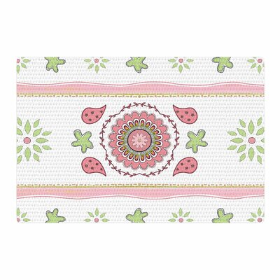 Cristina Bianco Design Mandala Design Pink/Green Area Rug Rug Size: 2 x 3