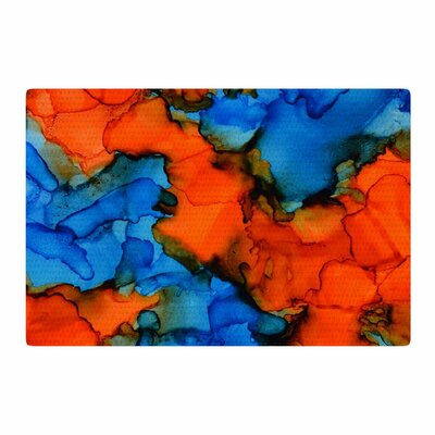 Claire Day Mile High Painting Blue/Orange Area Rug Rug Size: 2 x 3