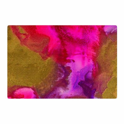 Claire Day Fancy Painting Gold Area Rug Rug Size: 2 x 3