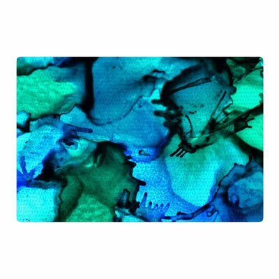 Claire Day Tidal Waves Painting Blue/Teal Area Rug Rug Size: 4 x 6