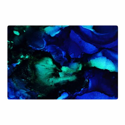 Claire Day Neptune Painting Blue Area Rug Rug Size: 2 x 3
