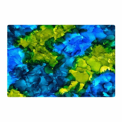 Claire Day Islands Abstract Painting Blue/Green Area Rug Rug Size: 2 x 3
