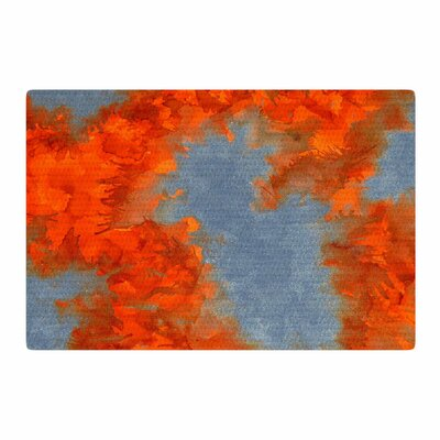 Claire Day Broken Promises Abstract Painting Orange/Gray Area Rug Rug Size: 2 x 3