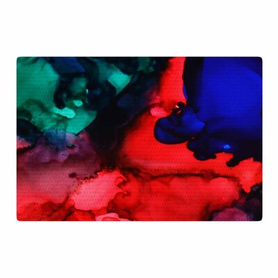 Claire Day Harmony Abstract Painting Blue/Red Area Rug Rug Size: 2 x 3