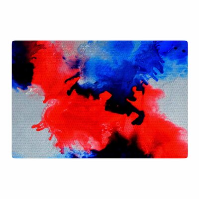 Claire Day Glory Abstract Painting Blue/Purple Area Rug Rug Size: 2 x 3