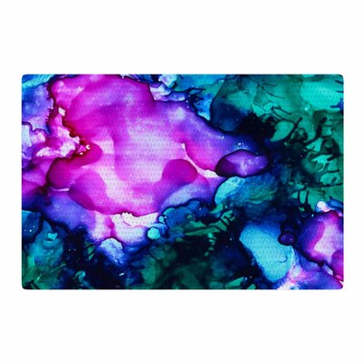 Claire Day Nebula Abstract Painting Teal Area Rug Rug Size: 4 x 6