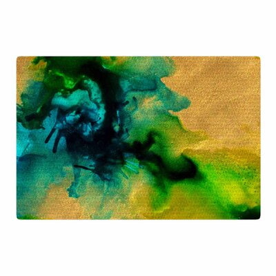 Claire Day Glamorous Abstract Painting Gold/Green Area Rug Rug Size: 2 x 3