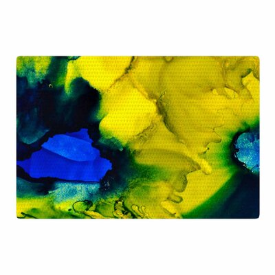 Claire Day Drifting Abstract Painting Blue/Green Area Rug Rug Size: 2 x 3