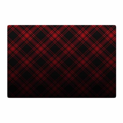 Draper Timber Digital Black/Red Area Rug Rug Size: 2 x 3