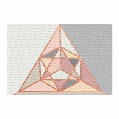 Draper Rose Geometry Digital Gold/Pastel Area Rug Rug Size: 4 x 6
