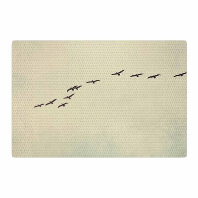 Cristina Mitchell In Flight Nature Photography Blue/Gray Area Rug Rug Size: 4 x 6