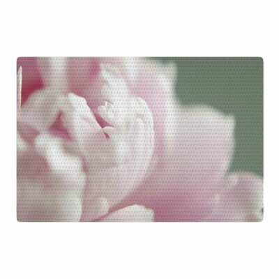 Cristina Mitchell A Single Peony Floral Photography Pink/Teal Area Rug Rug Size: 4 x 6