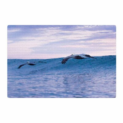 Colin Pierce Sky Surfers Photography Lavender/Pink Area Rug Rug Size: 2 x 3