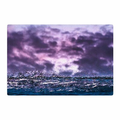 Colin Pierce Grape Drops Magenta Photoraphy Lavender Area Rug Rug Size: 4 x 6