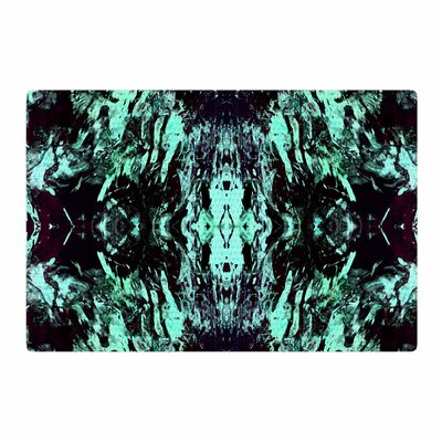 Vasare Nar Abstract Mixed Media Black/Aqua Area Rug Rug Size: 2 x 3