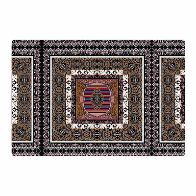 Victoria Krupp Tibet Mandala Illustration Black/White Area Rug Rug Size: 4 x 6
