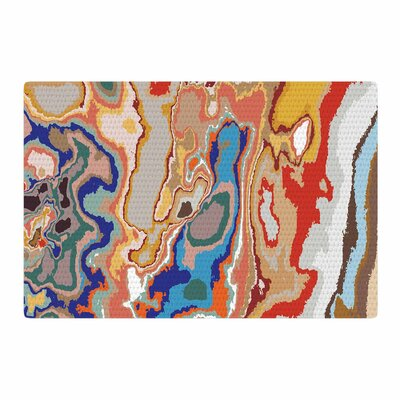 Empire Ruhl Colored Sand Digital Beige/Orange Area Rug Rug Size: 4 x 6