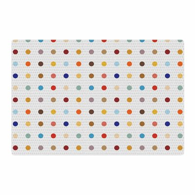 Empire Ruhl Fall Dots Digital Red/Pastel Area Rug Rug Size: 2 x 3
